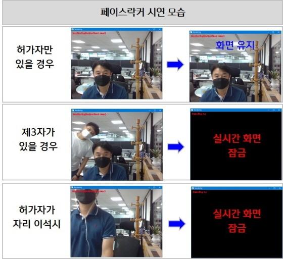 신한은행 직원들이 페이스락커를 이용하고 있다. (사진 = 신한은행)