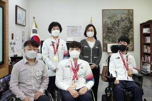 [NSP PHOTO]은수미 성남시장, 도쿄패럴림픽 탁구·보치아 메달리스트 만나 축하격려