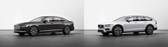 볼보자동차 S90(좌)와 V90크로스컨트리(우) (사진 = 볼보자동차코리아)